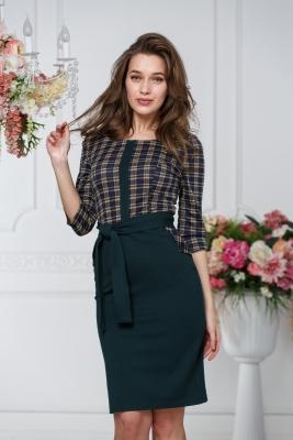 Платье с поясом и карманами №6