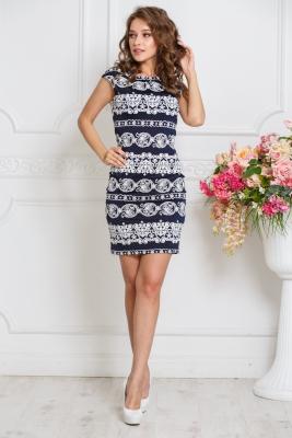 Платье Летнее №13 (бел.узор)