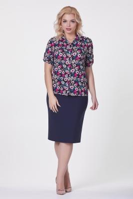 Рубашка Николь №4 (цветы)