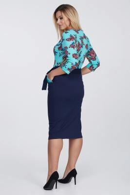 Платье с поясом и карманами №4